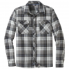 Outdoor Research Tangent Ii Long Sleeve Shirt   Men's, Black Plaid, Extra Large