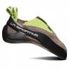 La Sportiva Cobra Eco Climbing Shoes - Men's, Falcon Brown/Apple Green, 33