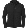 Outdoor Research Refuge Hybrid Hooded Jacket   Men's, Black, Small