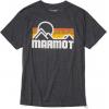 Marmot Coastal Short Sleeve Tee   Mens, True Charcoal Heather, Large