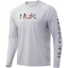 Huk Performance Fishing Huk Performance Fishing Americana Fill Pursuit Long Sleeve T Shirt   Men's, Glacier, Large