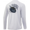 Huk Performance Fishing Huk Performance Fishing Pursuit Target Rich Long Sleeve Graphic T Shirt   Men's, Glacier, Large
