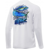 Huk Performance Fishing Huk Performance Fishing Pursuit Oversized Long Sleeve Graphic T Shirt   Men's, White, Large