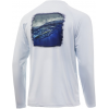 Huk Performance Fishing Huk Performance Fishing Pursuit Face On Long Sleeve Graphic T Shirt   Men's, Plein Air, Large