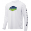 Huk Performance Fishing Huk Performance Fishing Mahi Badge Pursuit Graphic T Shirt   Men's, White, Large