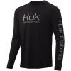 Huk Performance Fishing Huk Performance Fishing Pursuit Vented Long Sleeve Tee   Men's, Black, Large