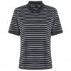 Oakley Enjoy Striped Golf Polo Short Sleeve   Women's, Blackout, Large