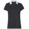 Oakley Enjoy Basic Golf Polo Short Sleeve   Women's, Blackout, Medium