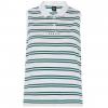 Oakley Enjoy Striped Golf Polo Long Sleeve   Women's, White, Small