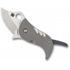Spyderco Pochi Folding Knife, 1.56in, Cpm S45 Vn Steel, Clip Point Blade, Beadblasted Handle, Designed By Kazuyuki Sakurai, Titanium