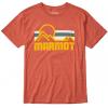 Marmot Coastal Short Sleeve Tee   Mens, Picante Heather, Large