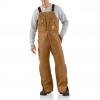 Carhartt Zip To Waist Biberalls For Mens, Brown, 38/30