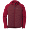 Outdoor Research Refuge Hybrid Hooded Jacket   Men's, Retro Red/Agate, Small