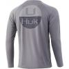 Huk Performance Fishing Huk Performance Fishing Horizon Lines Pursuit Long Sleeve   Mens, Sharkskin, Large, 028 L