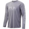 Huk Performance Fishing Huk Performance Fishing Pursuit Vented Long Sleeve Tee   Men's, Sharkskin, Large, 028 L