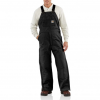 Carhartt Flame Resistant Duck Bib Lined Overall, Black, 30/28