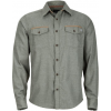 Marmot Nethercott Long Sleeve Shirt   Men's Beetle Green Heather Medium
