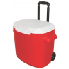 Coleman 28 Quart Wheeled Cooler, 6220, Red / White, Holds 40 Cans