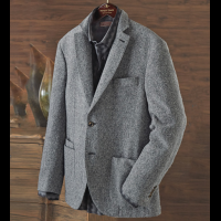 Patrick James Boucle Herringbone Soft Coat