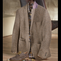 Patrick James Boucle Herringbone Soft Coat