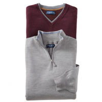 Peter Millar Merino/Silk Fine Gauge V-Neck Sweater