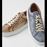 Donald J. Pliner Washed Croc Print Sneakers