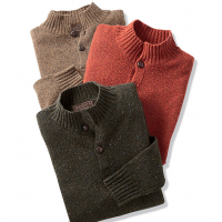Reserve Two-Button Mock Sweater