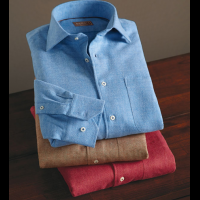 Reserve Long Sleeve Herringbone Sport Shirt