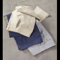 Patrick James Flat Front Chambray Linen Pants