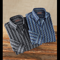 Reserve Jagged Stripe Long Sleeve Sport Shirt