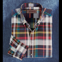 Patrick James Plaid Long Sleeve Sport Shirt
