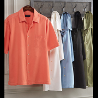 Scott Barber Short Sleeve Silk Blend Camp Shirt