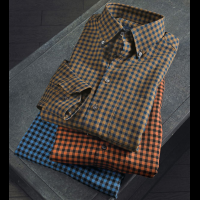 Scott Barber Long Sleeve Melange Check Sport Shirt