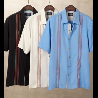 Nat Nast Calder Embroidered Silk Short Sleeve Sport Shirt