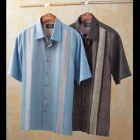 Nat Nast Konica Short Sleeve Silk Panel Shirt