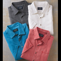 Nat Nast Short Sleeve Havana Solid Silk-Blend Shirt