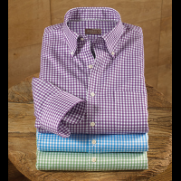 Reserve Nanoluxe Twill Check Long Sleeve Sport Shirt