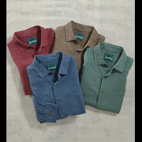 Gramercy Foundry Heather Herringbone Long Sleeve Shirt