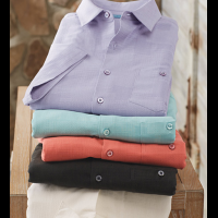 Tori Richard Dimensions Silk Blend Camp Shirt