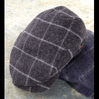 Wigens Windowpane Wool Cap