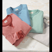 Faherty French Terry Long Sleeve Crewneck Pullover