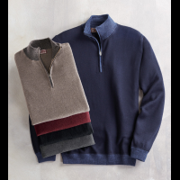 Patrick James Quarter-Zip Merino Wool Sweater