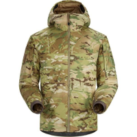 Arc'teryx LEAF Cold Windproof Hoody Jacket Light Weight - Camo in Black