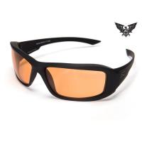 Edge Tactical Eyewear Hamel Thin Temple - Matte Black Frame / Tiger's Eye Lens