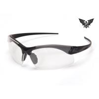Edge Tactical Eyewear Sharp Edge Thin Temple - Matte Black Frame / Clear Lens