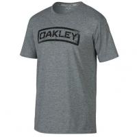 Oakley Tab Tee in Heather Grey