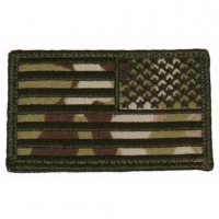 215 Gear Reverse American Flag Patch in Black