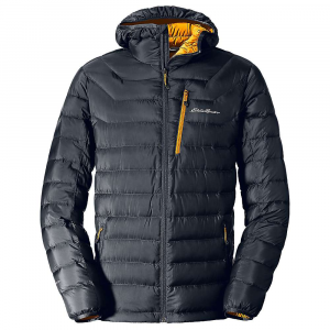 Eddie Bauer First Ascent Men's Downlight Stormdown Hooded Jacket - Large - Storm