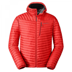 Eddie Bauer First Ascent Men's Microtherm 2.0 Stormdown Hooded Jacket - Large - Pimento
