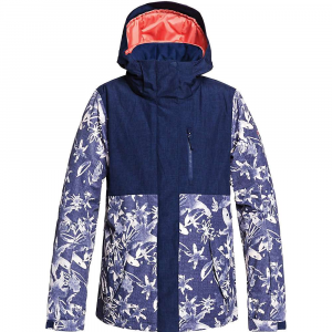 Roxy Women's Jetty Block Jacket - Medium - Mid Denim/Bleached Flowers
